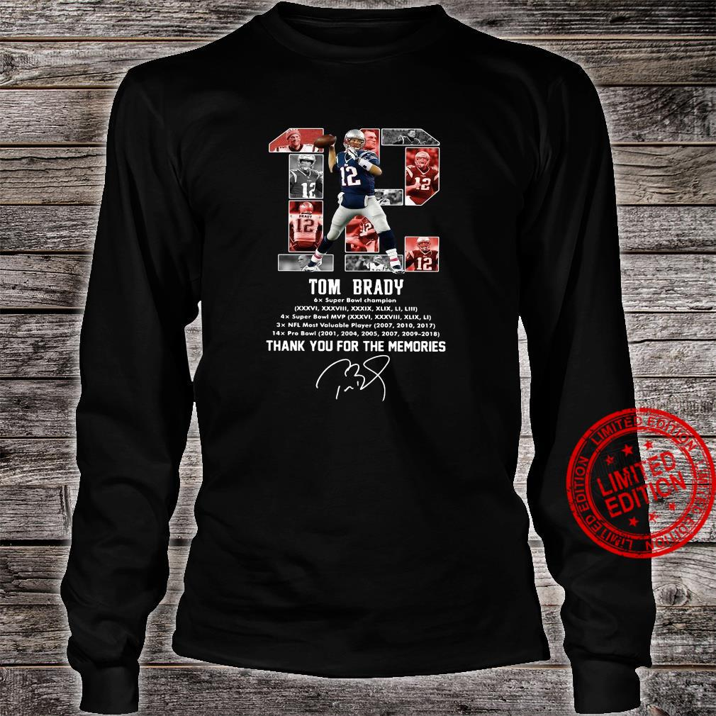 12 Tom Brady Thank You For The Memories Shirt long sleeved