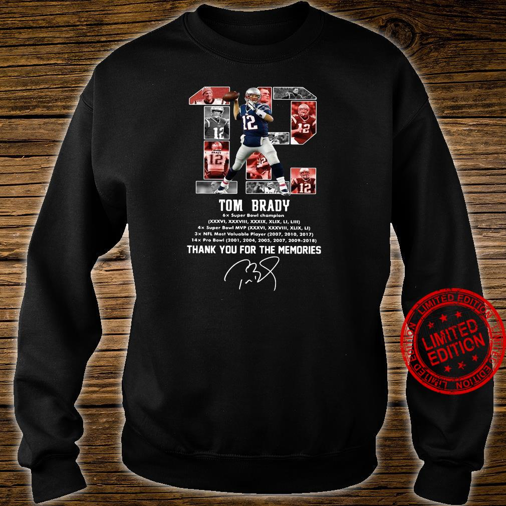 12 Tom Brady Thank You For The Memories Shirt sweater