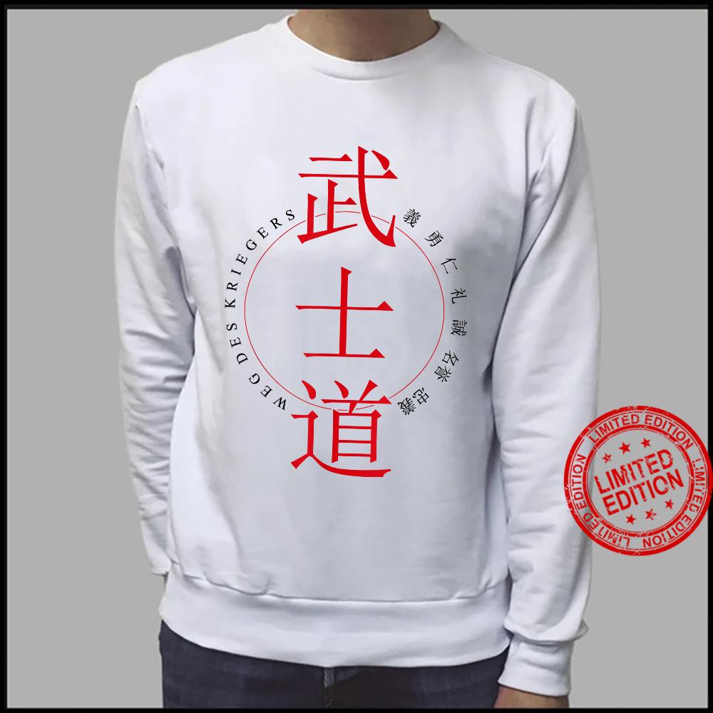 7 Virtues Way of Warrior Codex Calligraphy Sensei Shirt sweater