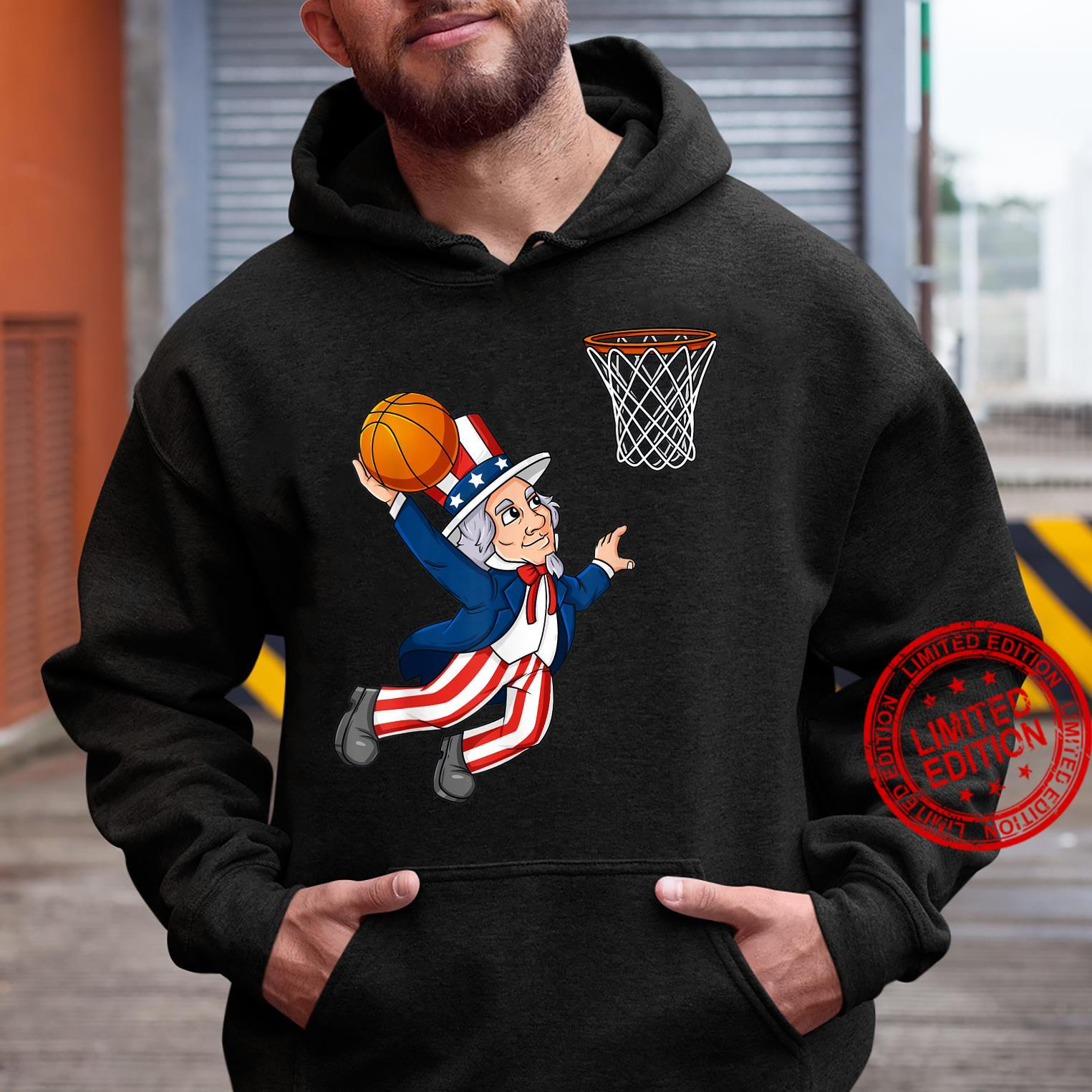 Basketball Uncle Sam 4th Of July Patriotic Dunking Shirt hoodie