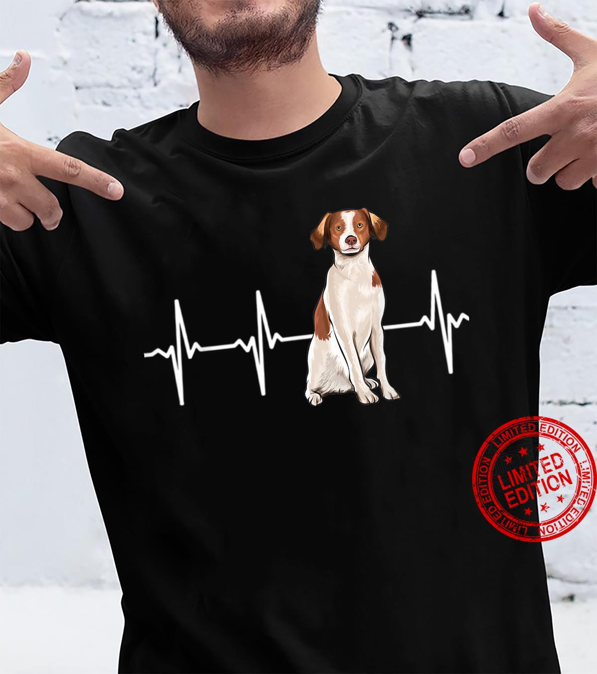 Brittany Heartbeat Dog Shirt