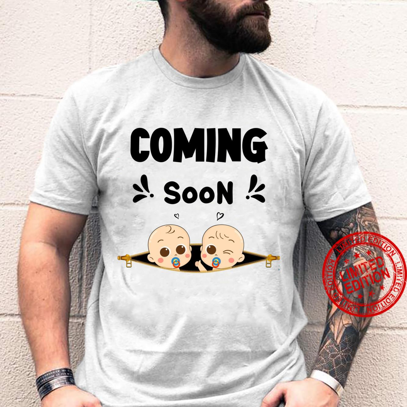 Coming Soon Baby Announcement Twins & Pregnancy New Moms Shirt