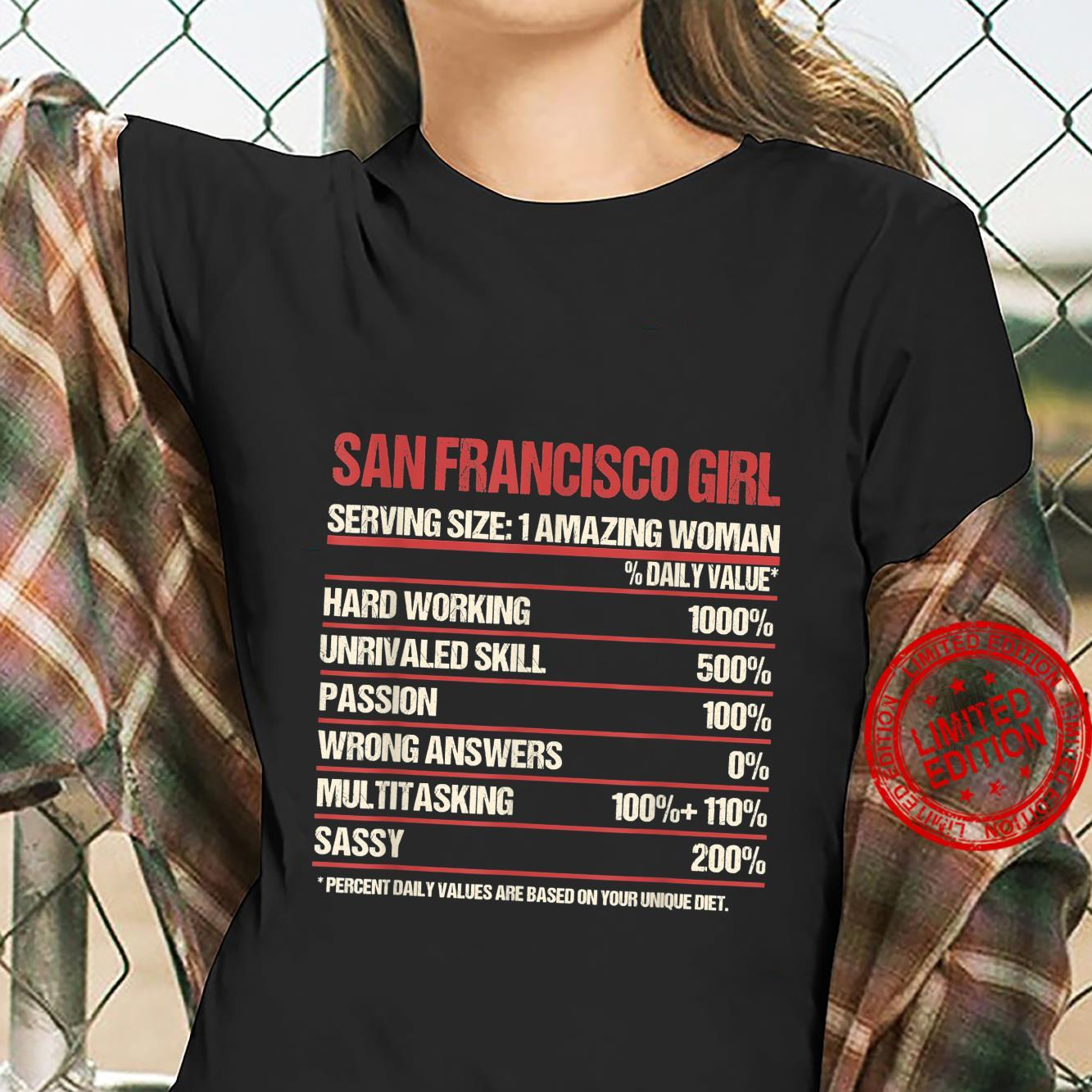 Girl Out Of San Francisco California CA, Home Roots Shirt ladies tee