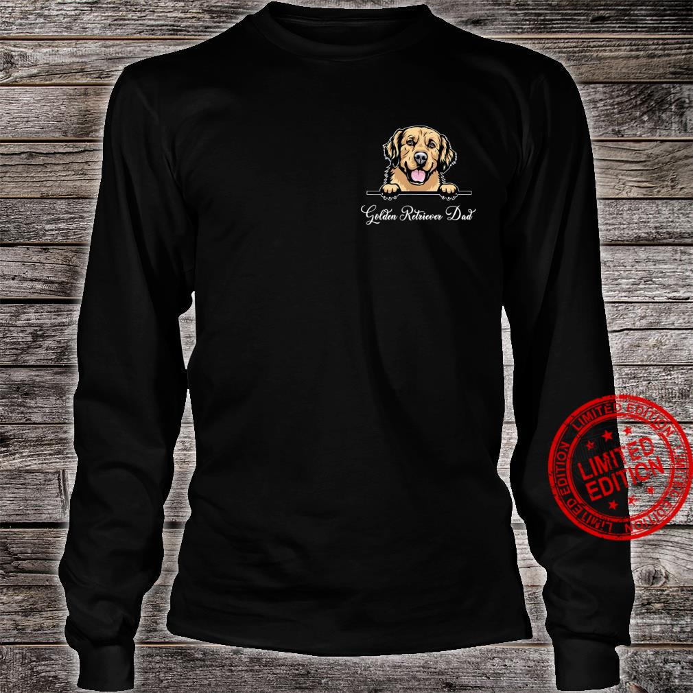 Golden Retriever Dad Happy Father Day Frenchie Dad Pocket Shirt long sleeved