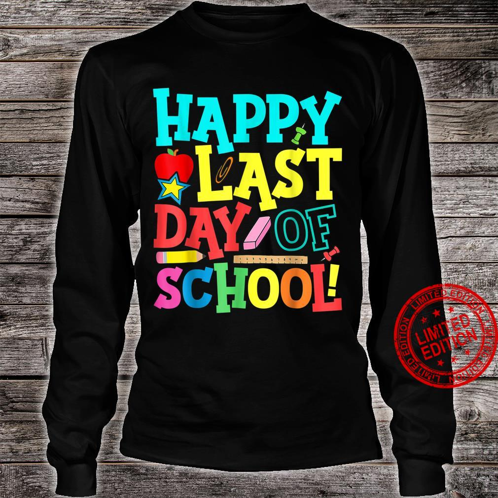 Happy Last Day Of School Teacher Boys Girls Shirt long sleeved