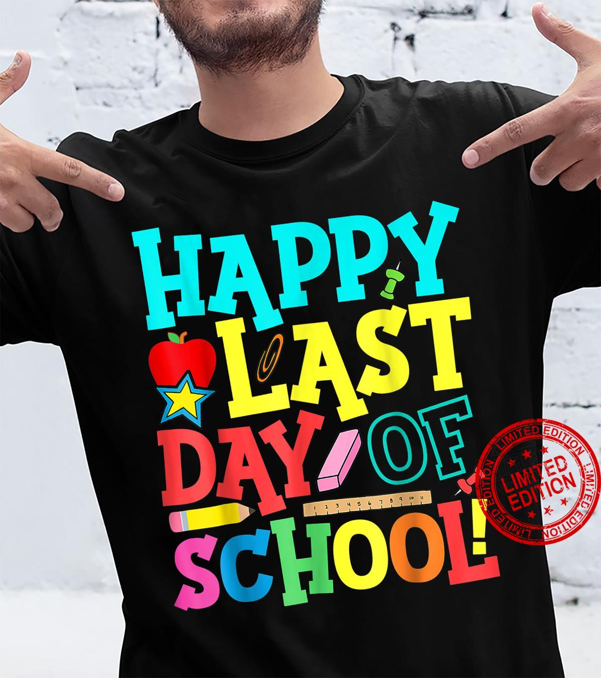 Happy Last Day Of School Teacher Boys Girls Shirt