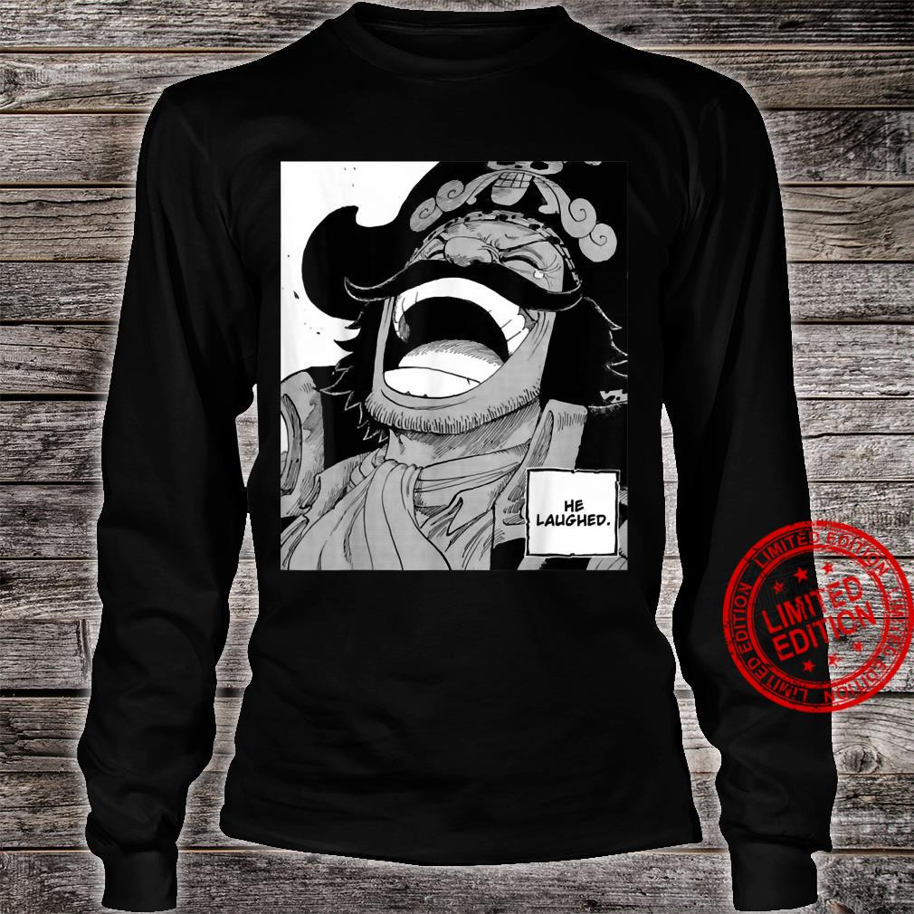 He laughed Shirt long sleeved