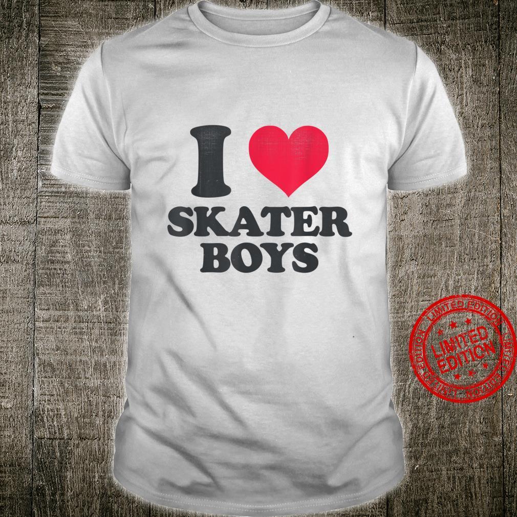 I Love Skater Boys Skating Aesthetic Heart Shirt