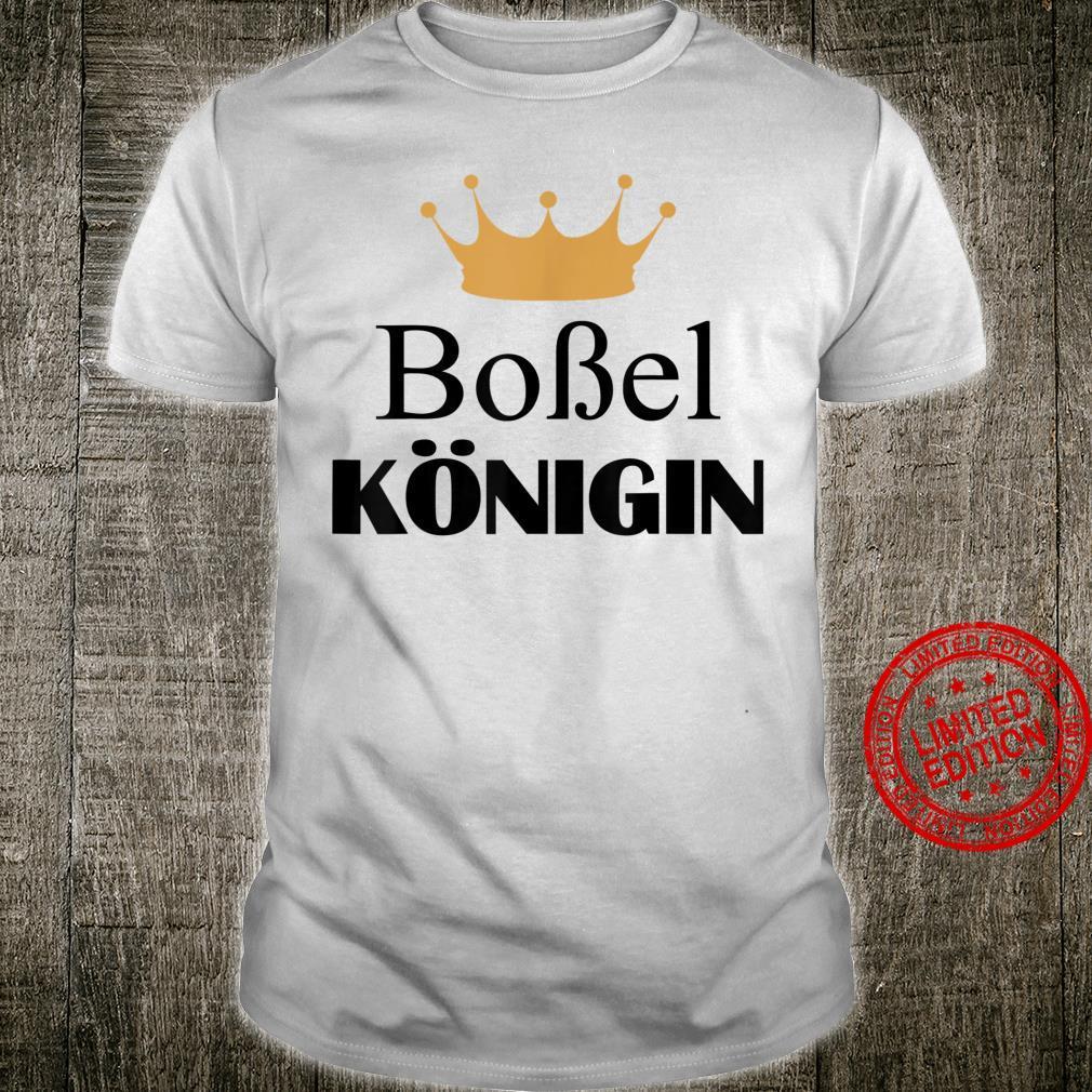 Klootschießen Klootschießer Boßel Königin Krone Damen Shirt