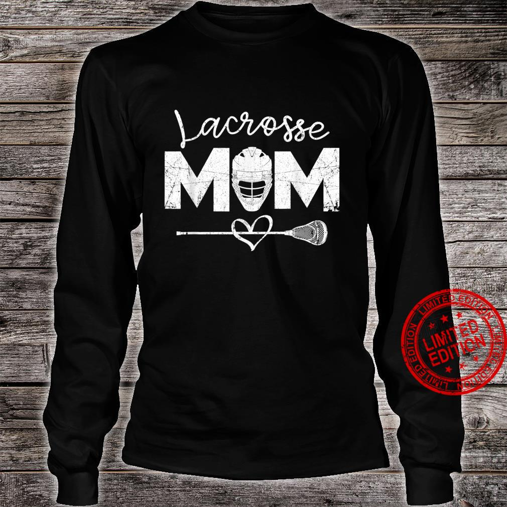 Lacrosse Mom with LAX Stick Head, Lacrosse Mom Shirt long sleeved