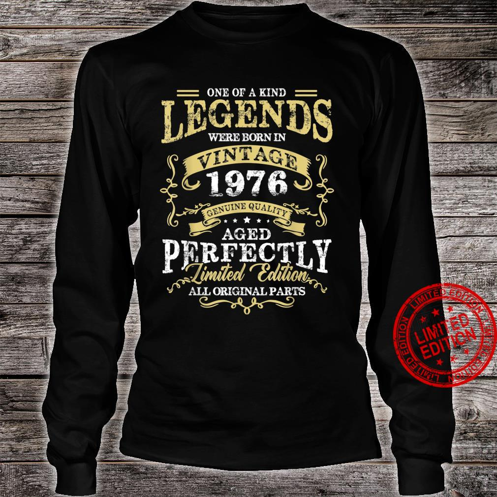Legend Born In 1976 45th Birthday For 45 Years Old Shirt long sleeved