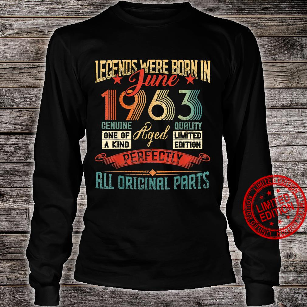 Legends Were Born in June 1963 58 Years Old 58 Birthday Shirt long sleeved