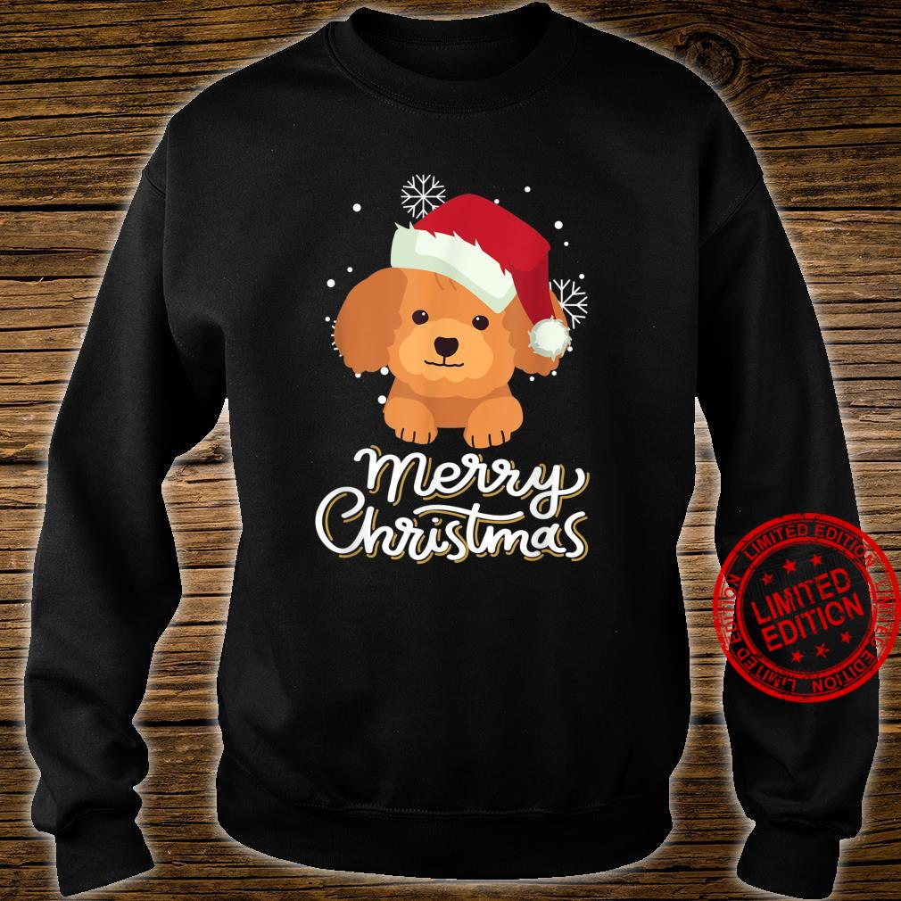 Merry Christmas Poodle Shirt sweater