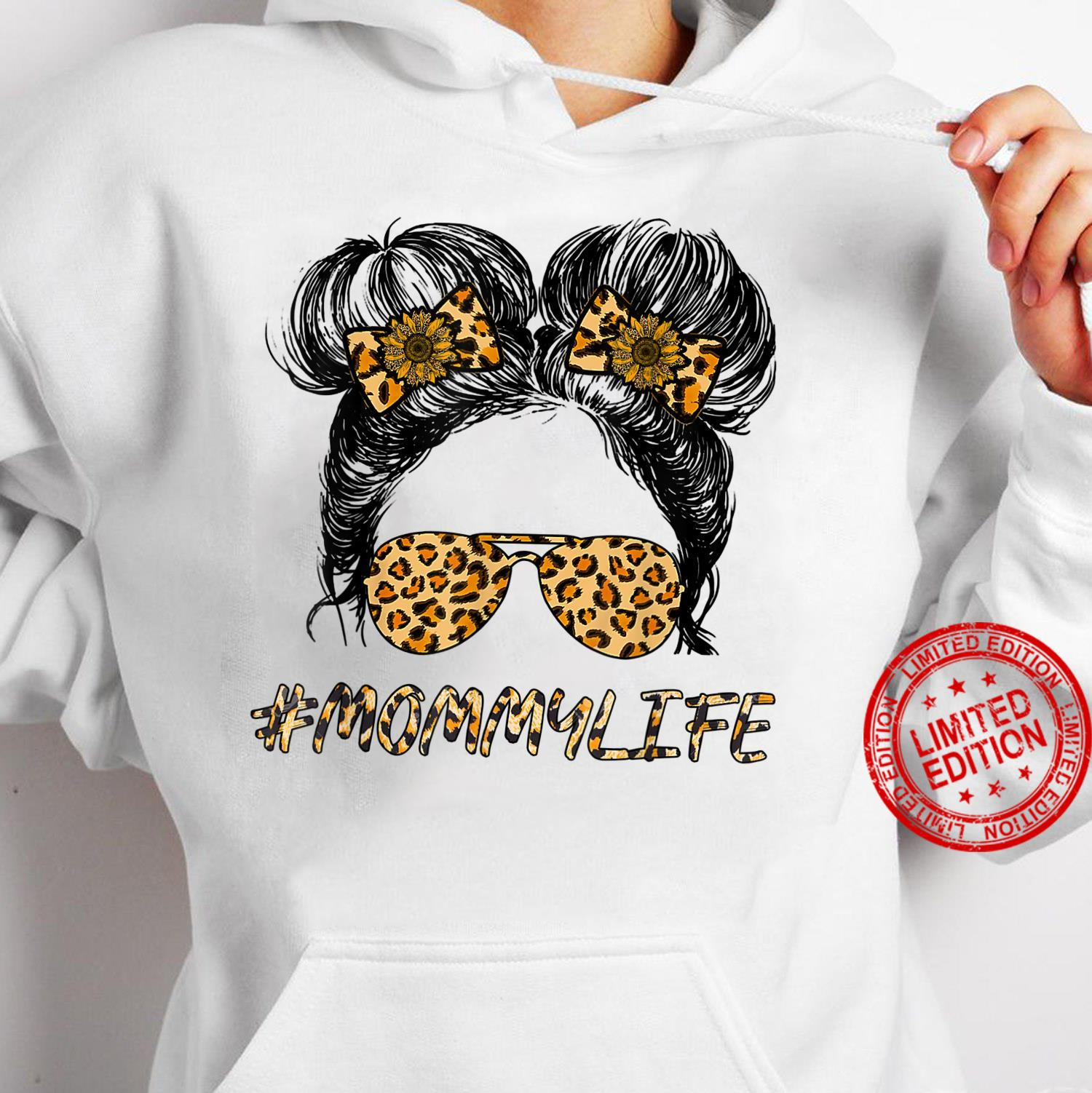#MommyLife Momlife #MommyLife And Me Leopard Sun Flower Shirt hoodie