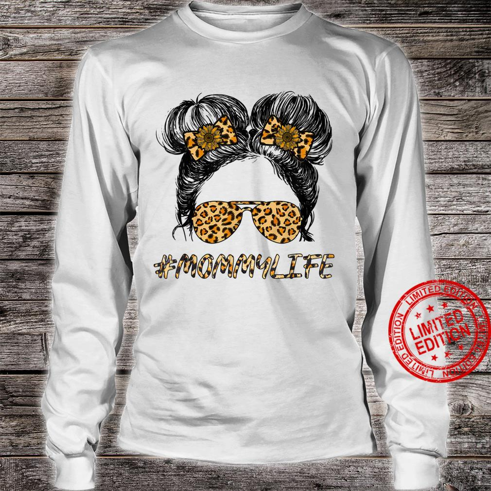 #MommyLife Momlife #MommyLife And Me Leopard Sun Flower Shirt long sleeved