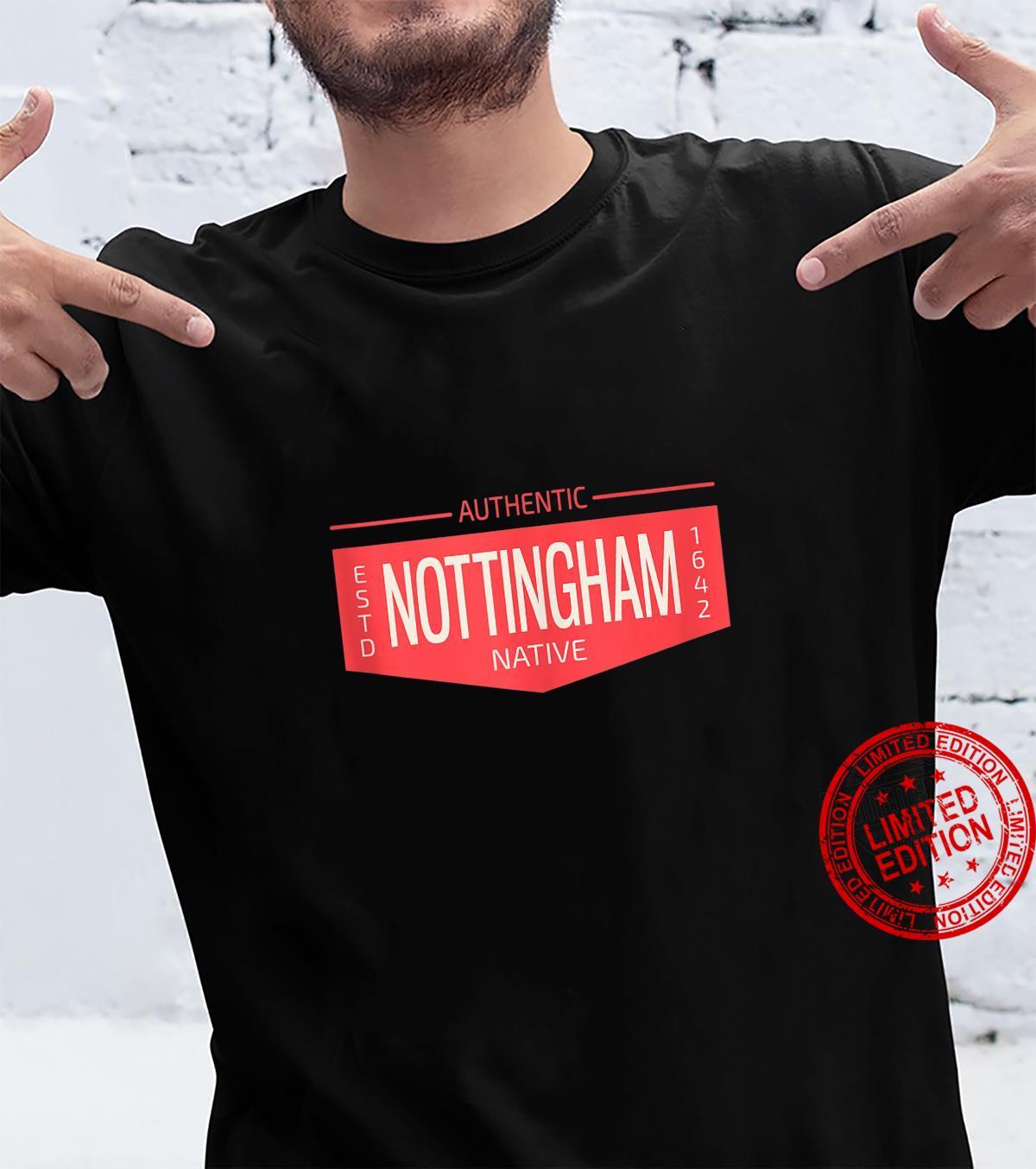 Nottingham Native UK Flag British Patch England Logo Shirt