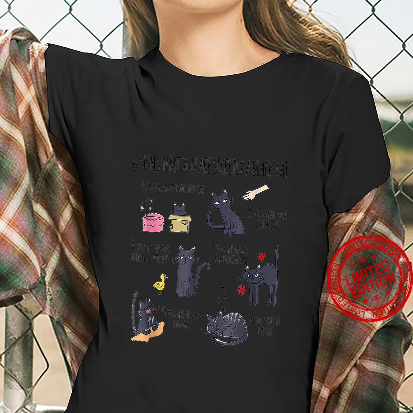 Six Signs That You Are Secretly A Cat Shirt ladies tee