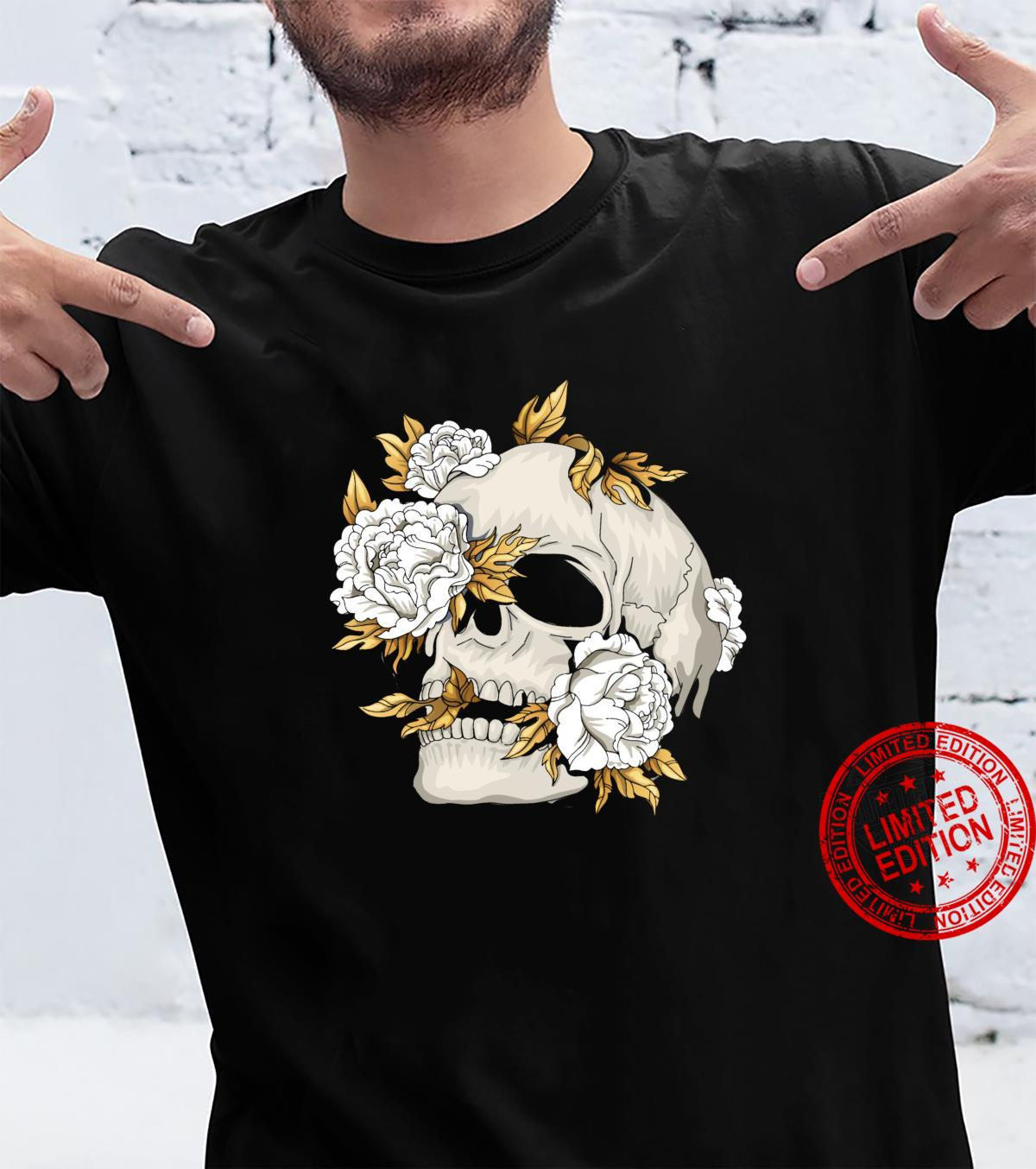 Skull Flowers Goth Gothic Occult Wicca Witchcore Witchcraft Shirt