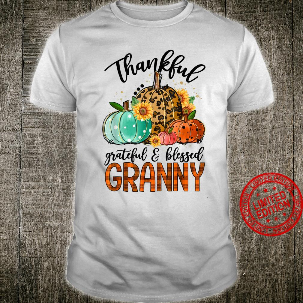 Thankful Grateful And Blessed Granny Pumpkin Thanksgiving Shirt