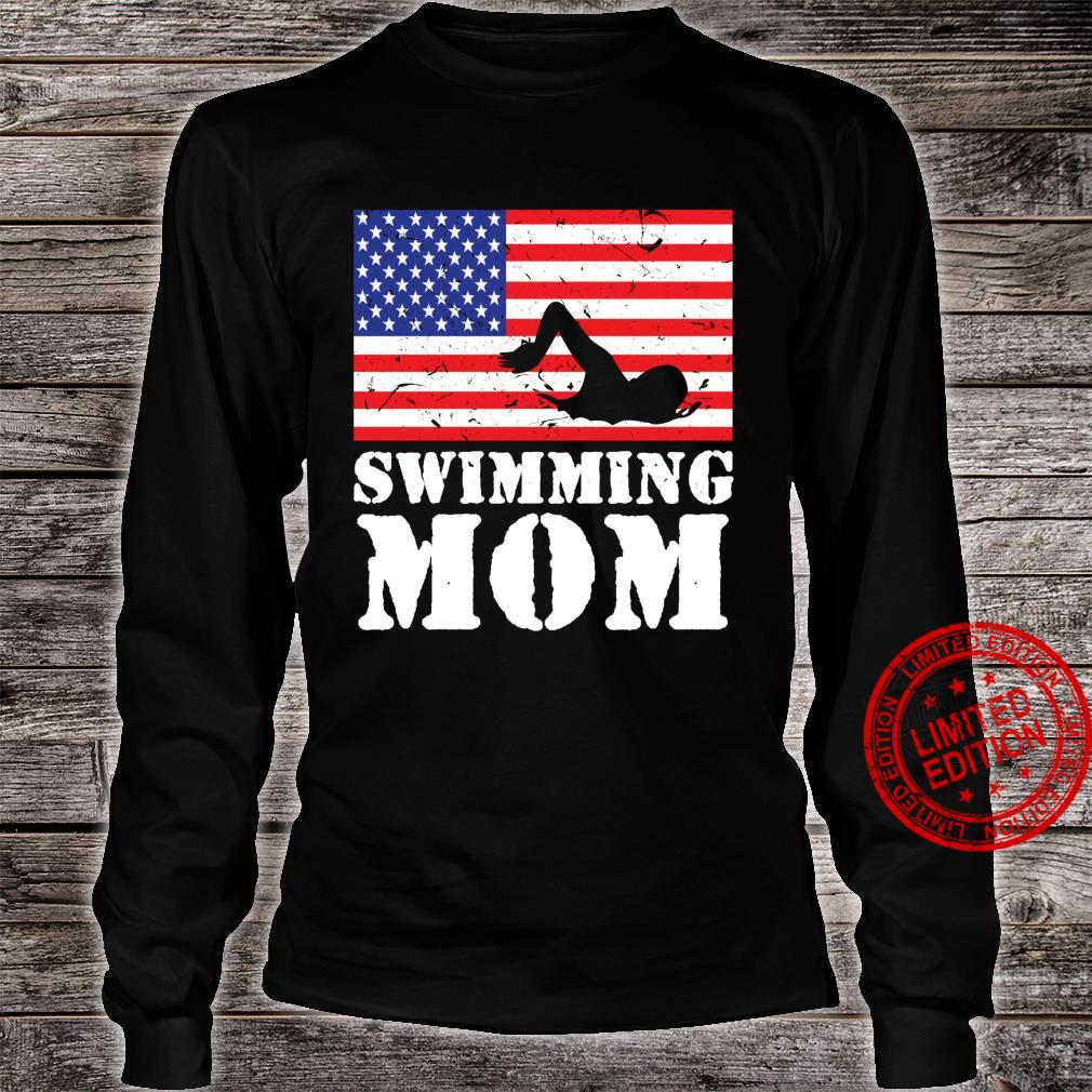 USA American Distressed Flag Swimming Mom For Her Shirt long sleeved