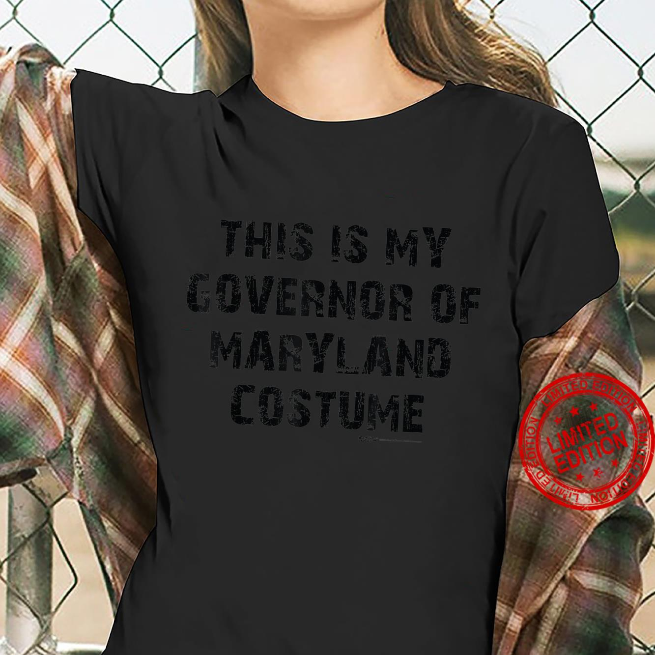 Vintage This Is My Governor Of MarylandHalloween 2021 Shirt ladies tee