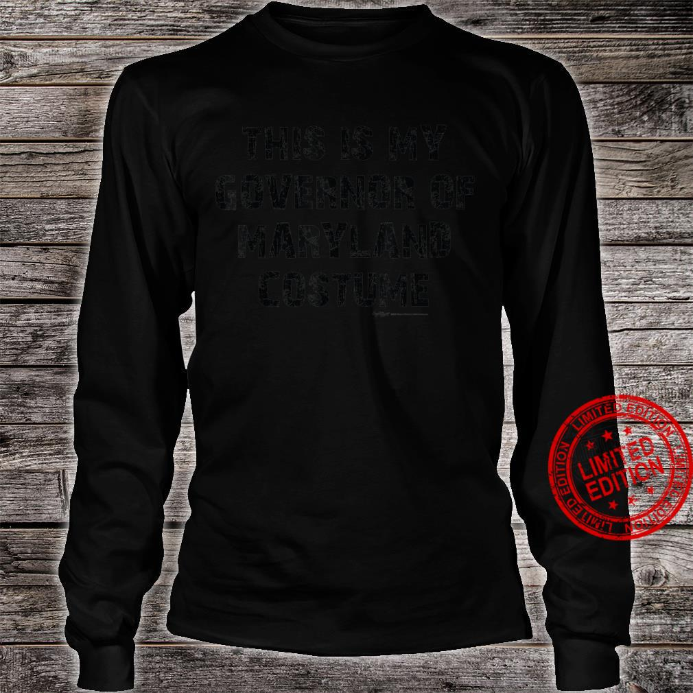 Vintage This Is My Governor Of MarylandHalloween 2021 Shirt long sleeved