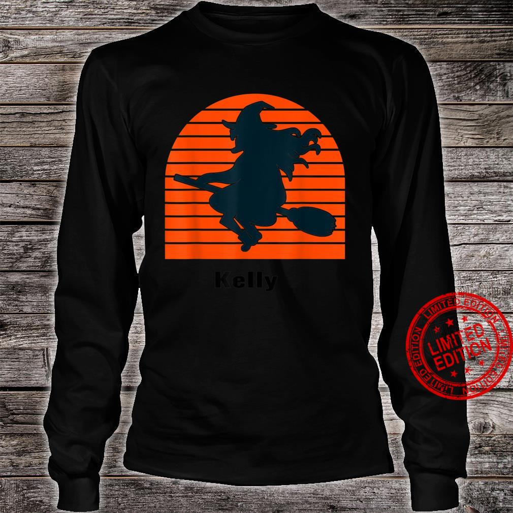 Witch Kelly Halloween Personalized Shirt long sleeved