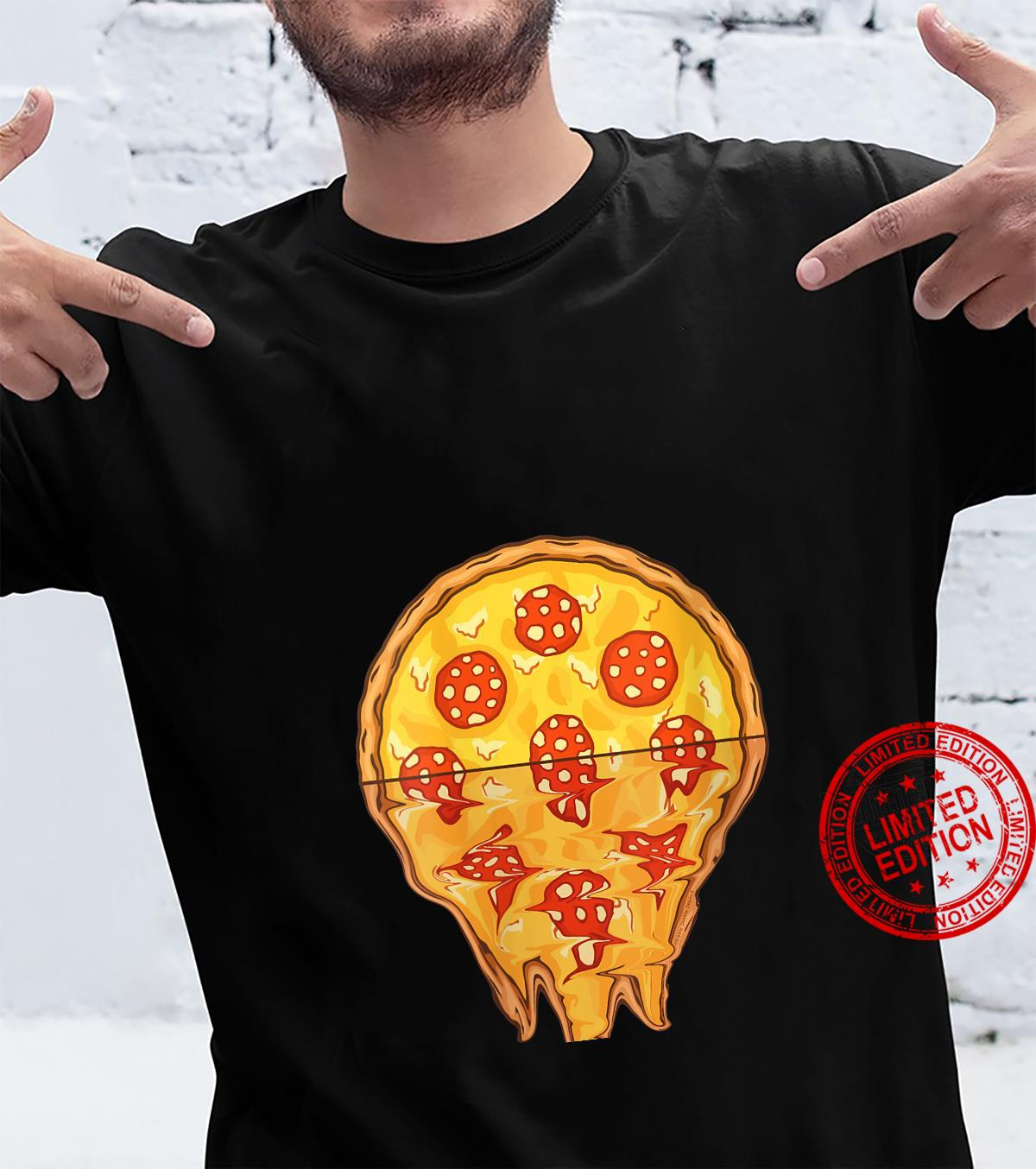 Womens Pizzas Sunrise Pepperoni Pizza Shirt