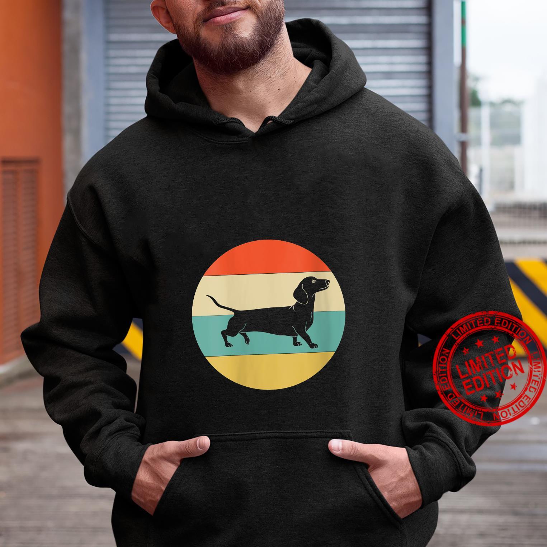 Womens Vintage Retro Dachshund Dog Shirt hoodie