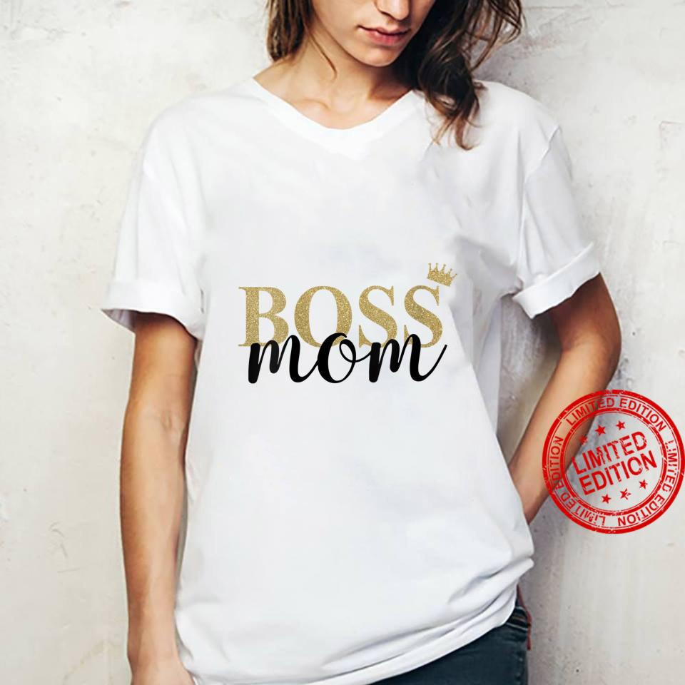 Womens Wife Mom Boss Mothers Day Idea for Blessed Mommy Mama Momma Shirt ladies tee