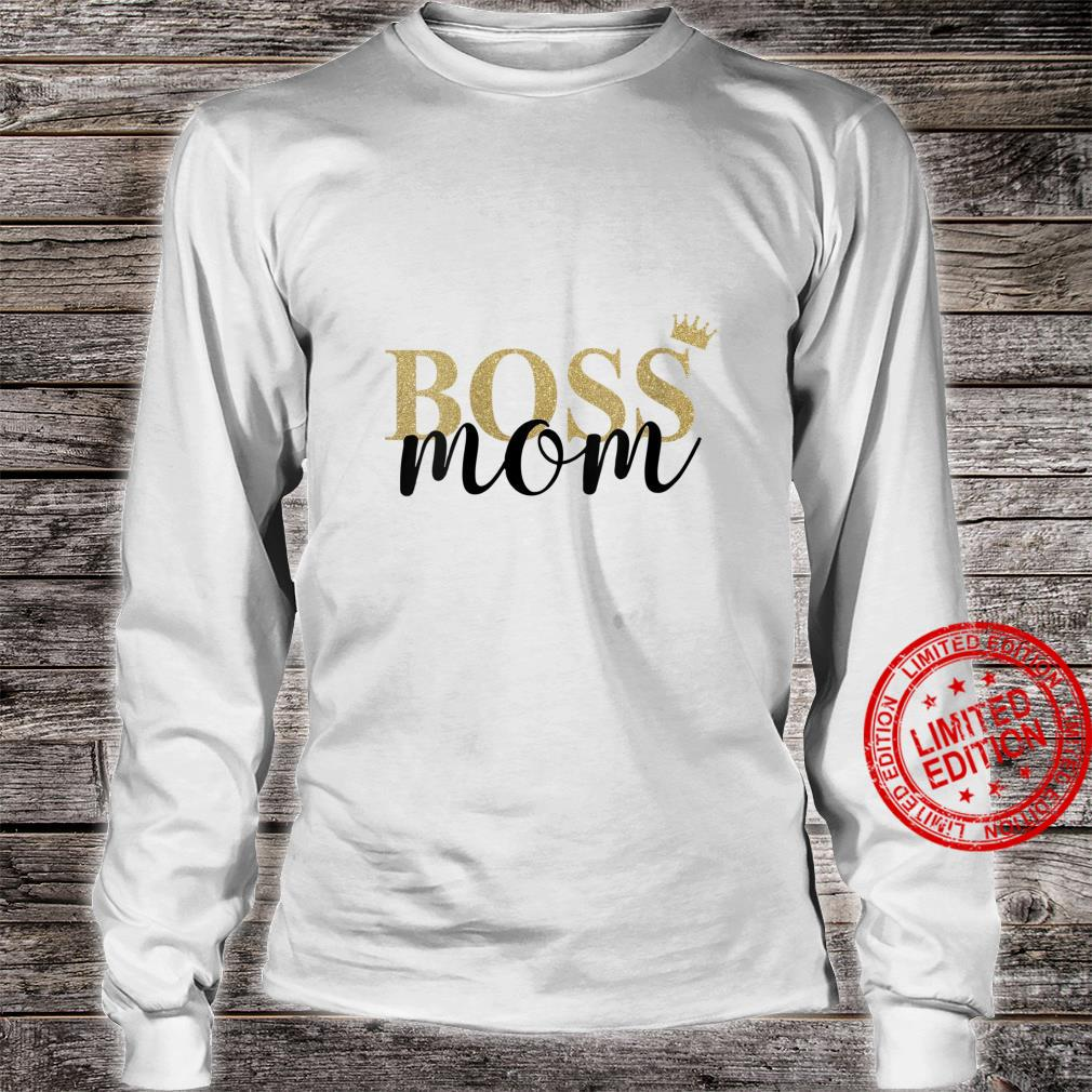 Womens Wife Mom Boss Mothers Day Idea for Blessed Mommy Mama Momma Shirt long sleeved