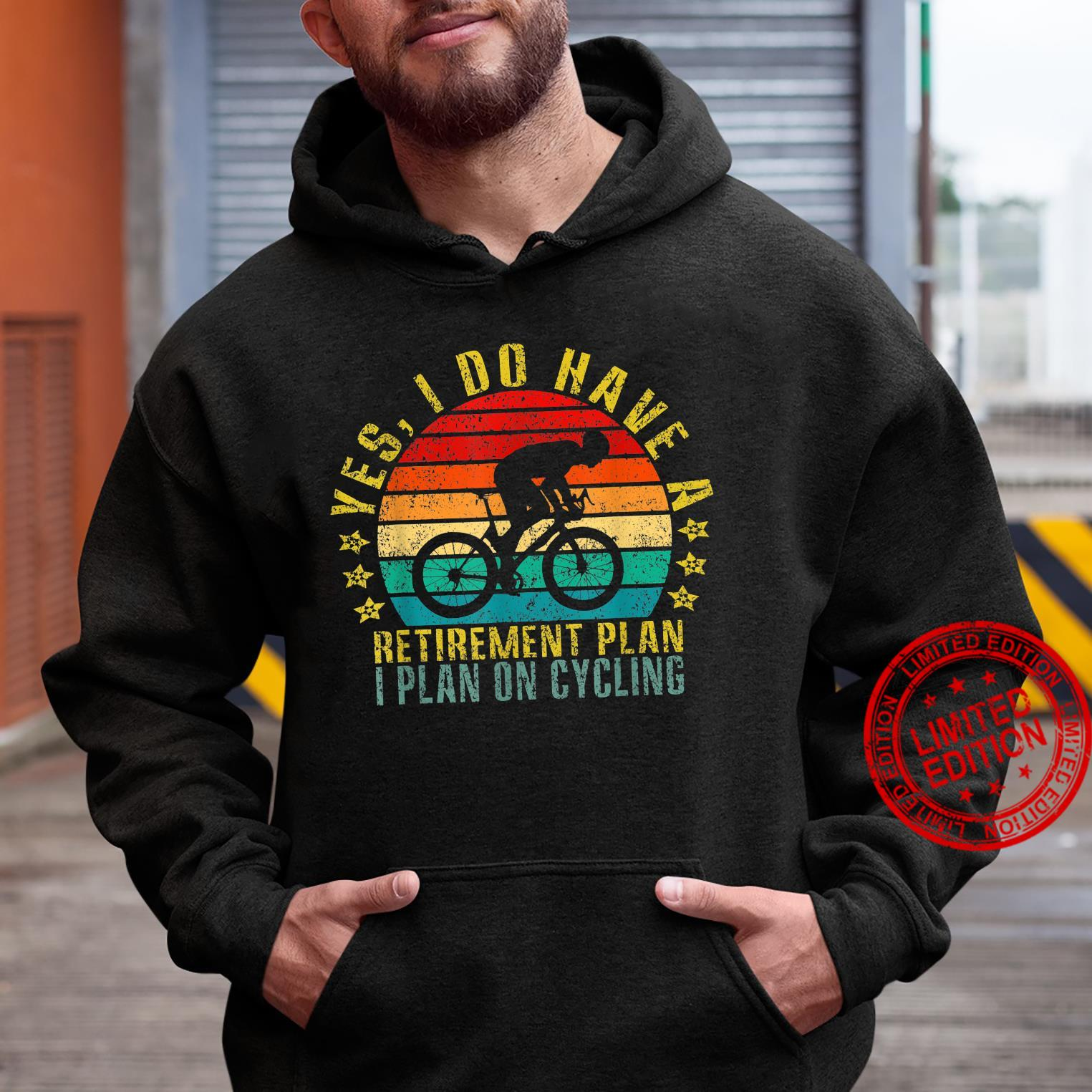 Yes I Do Have A Retirement Plan I Plan On Cycling Retro Shirt hoodie