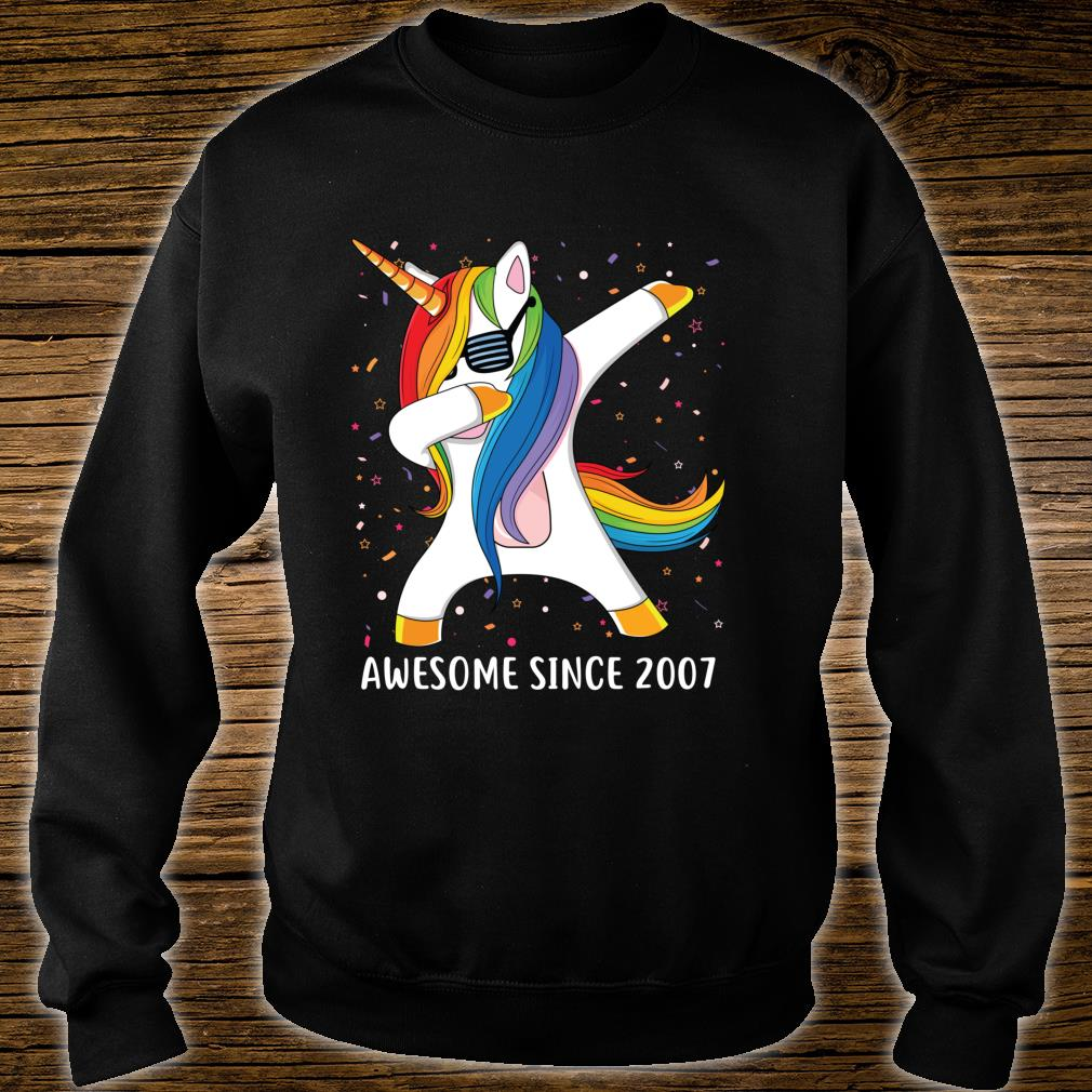 12 Years Old 12th Birthday Unicorn Dab Awesome Since 2007 Shirt sweater