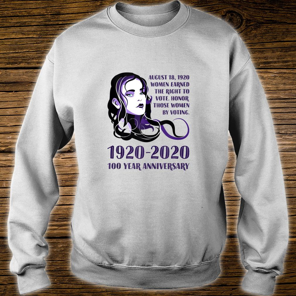 1920 2020, 100 Year Anniversary Of's Right To Vote Shirt sweater