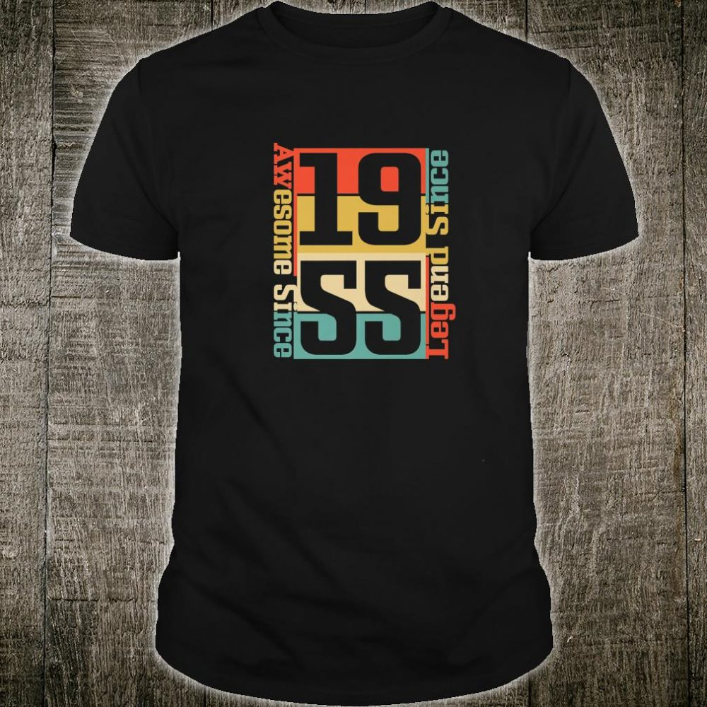 65th Birthday Idea. Awesome Since 1955 Shirt