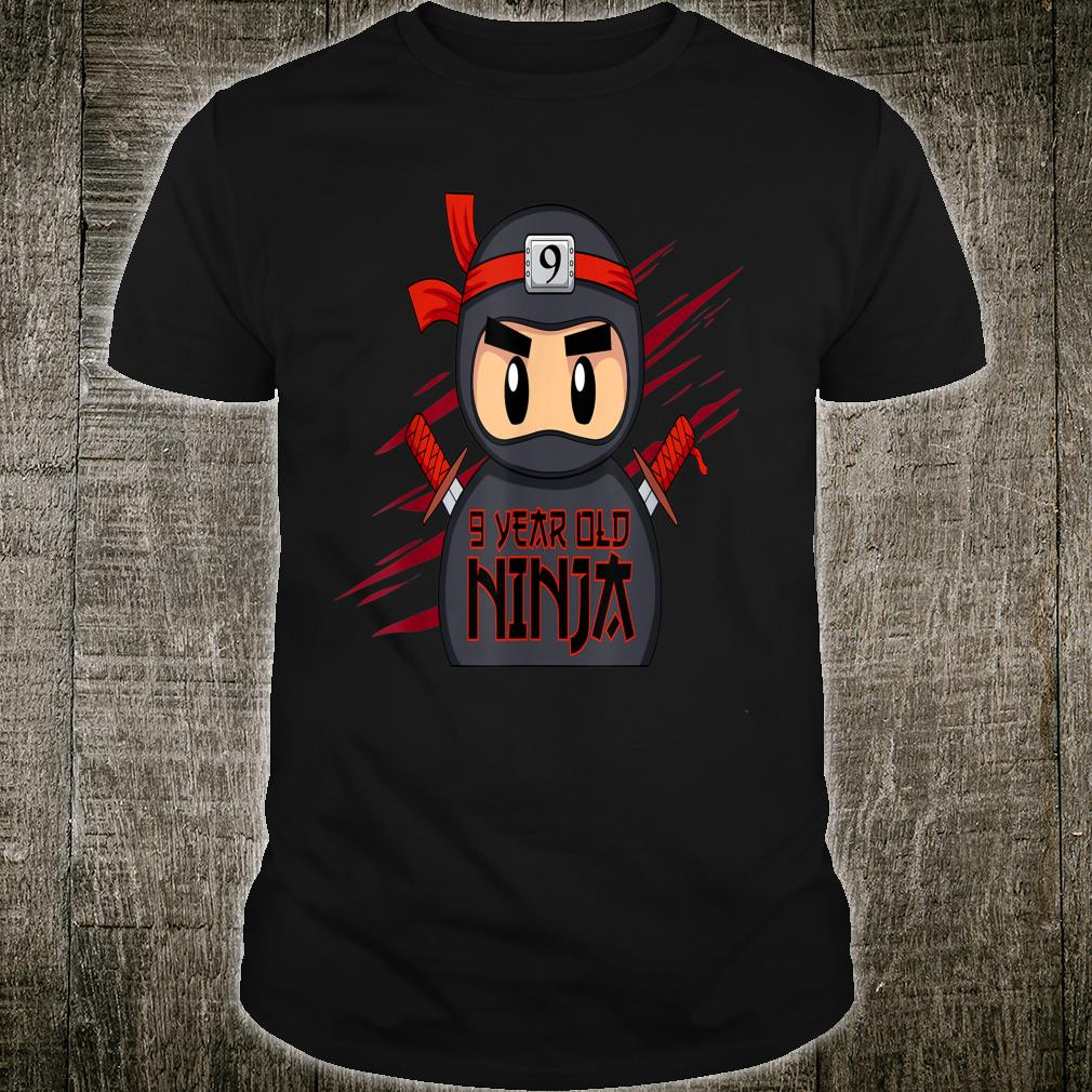 9th Birthday Ninja Shirt