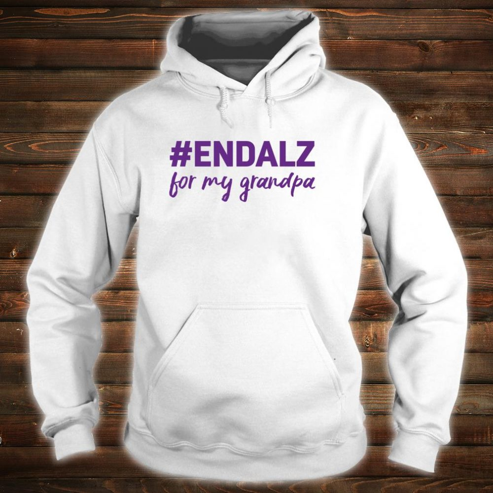 Alzheimer's Awareness Products Purple ENDALZ END ALZ Grandpa Shirt hoodie