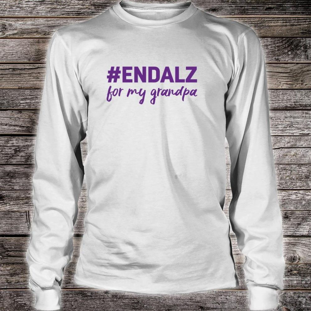 Alzheimer's Awareness Products Purple ENDALZ END ALZ Grandpa Shirt long sleeved