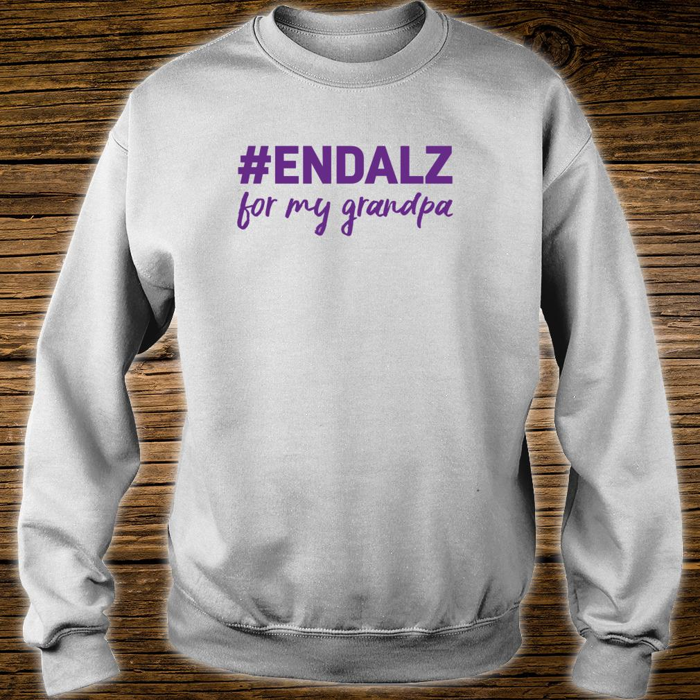 Alzheimer's Awareness Products Purple ENDALZ END ALZ Grandpa Shirt sweater