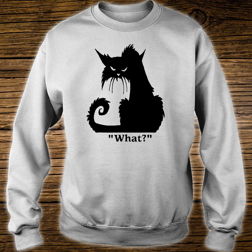 Angry black cat what shirt sweater
