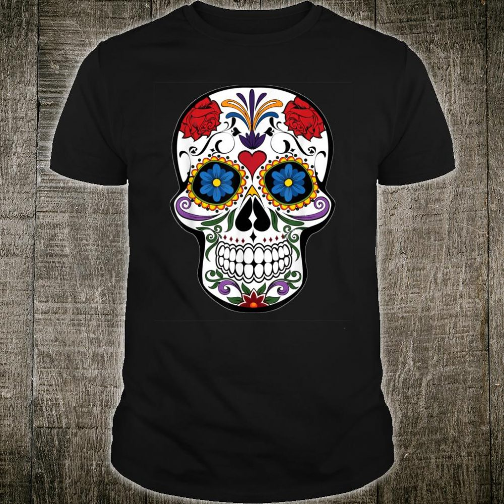 Awsome Colorful Skull Design Mandala Style Shirt