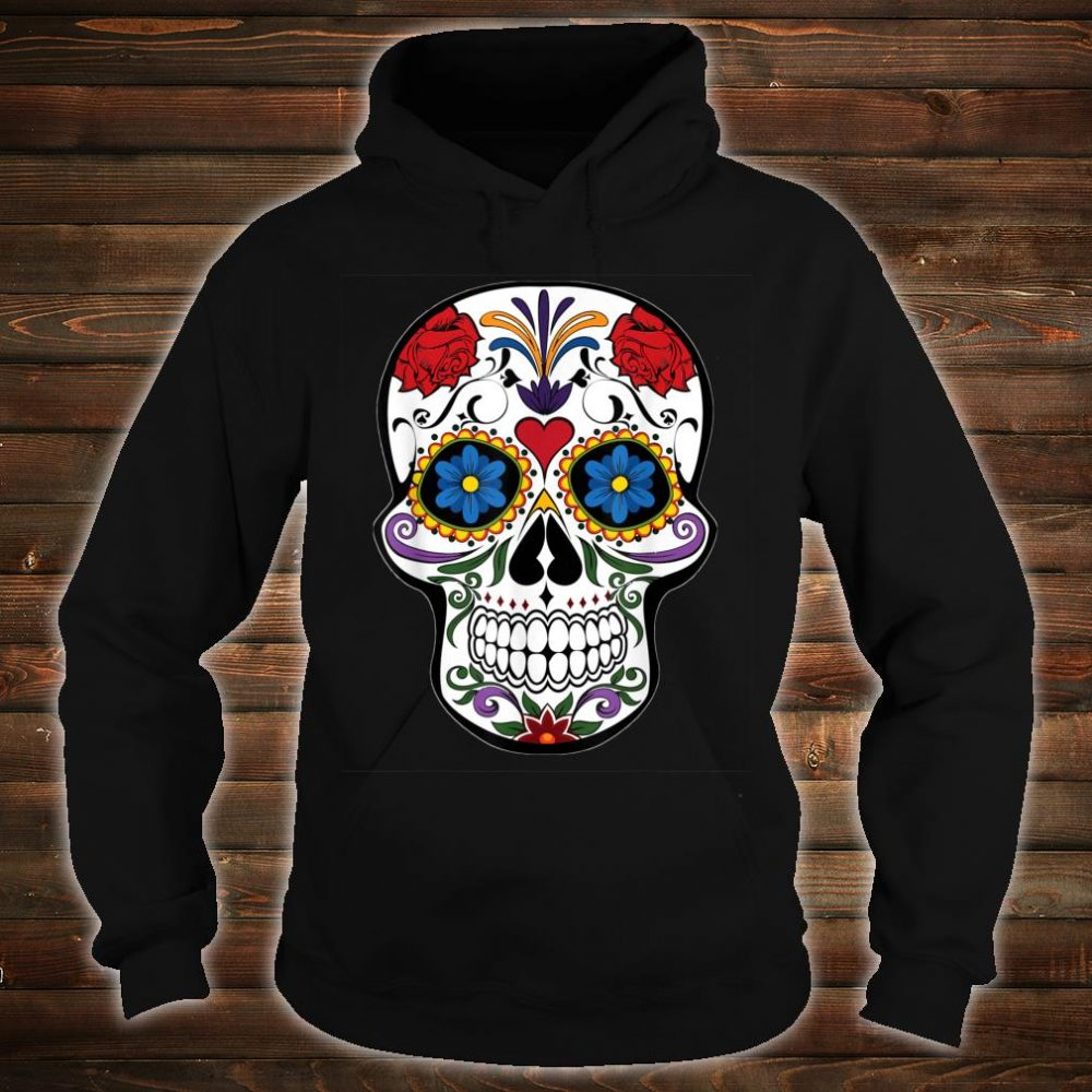 Awsome Colorful Skull Design Mandala Style Shirt hoodie