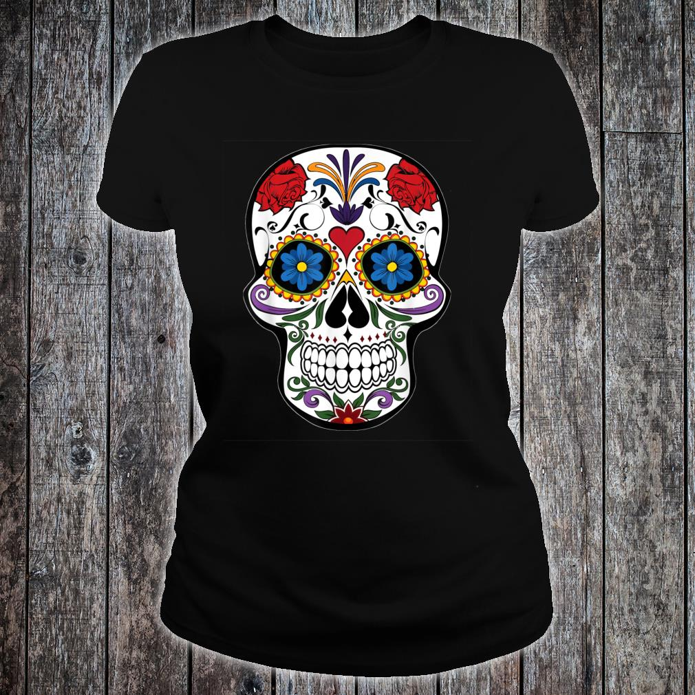 Awsome Colorful Skull Design Mandala Style Shirt ladies tee