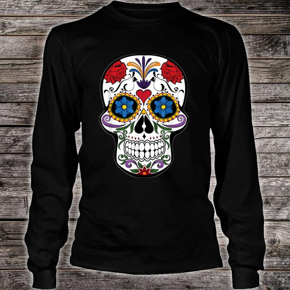 Awsome Colorful Skull Design Mandala Style Shirt long sleeved