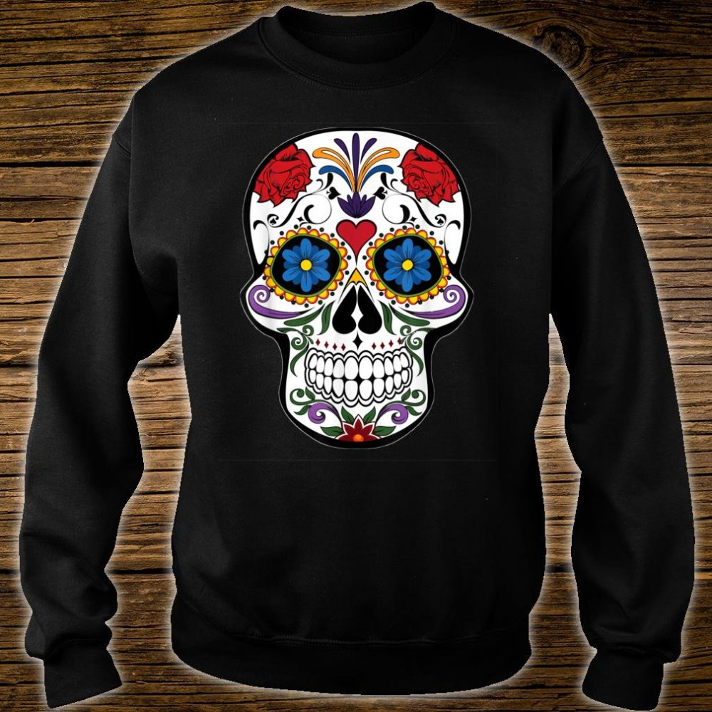 Awsome Colorful Skull Design Mandala Style Shirt sweater