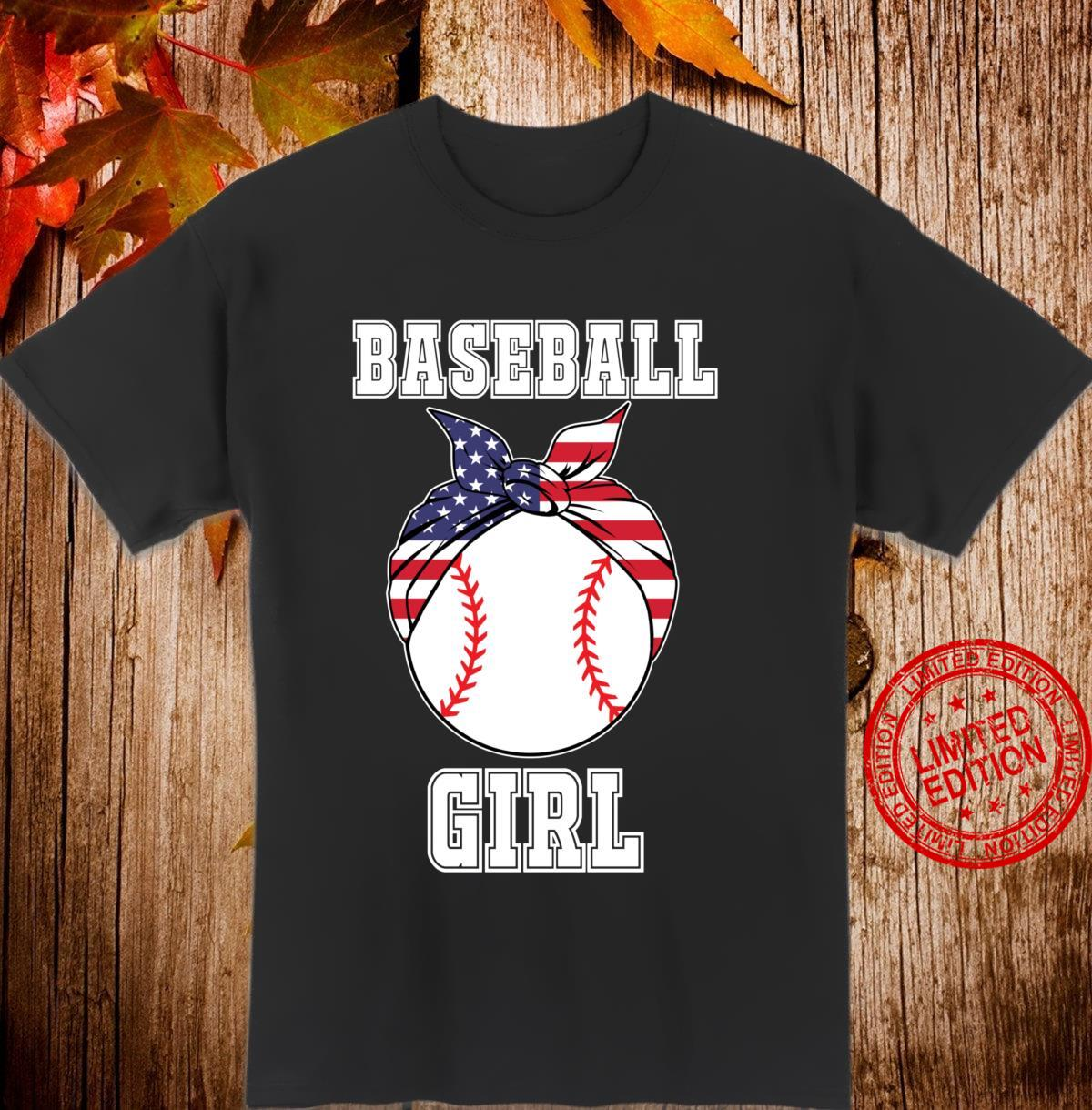 'Baseball Girl' College Girls Softball Player Shirt