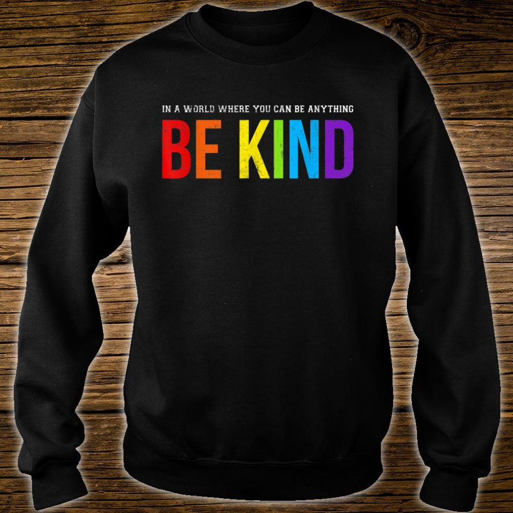 Be Kind Gay Les Pride Rainbow Shirt sweater