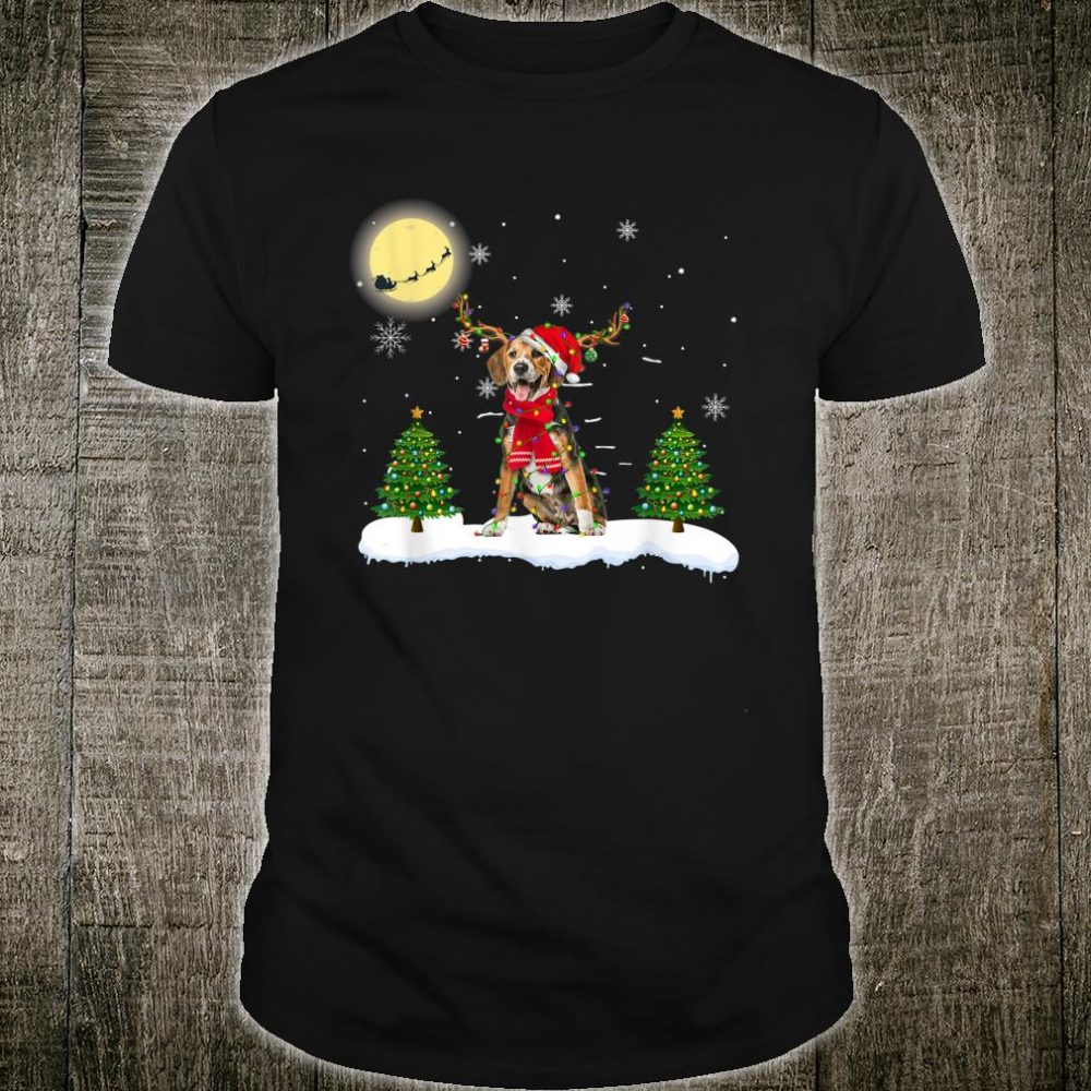 Beagle Gorgeous Reindeer Light Christmas Shirt