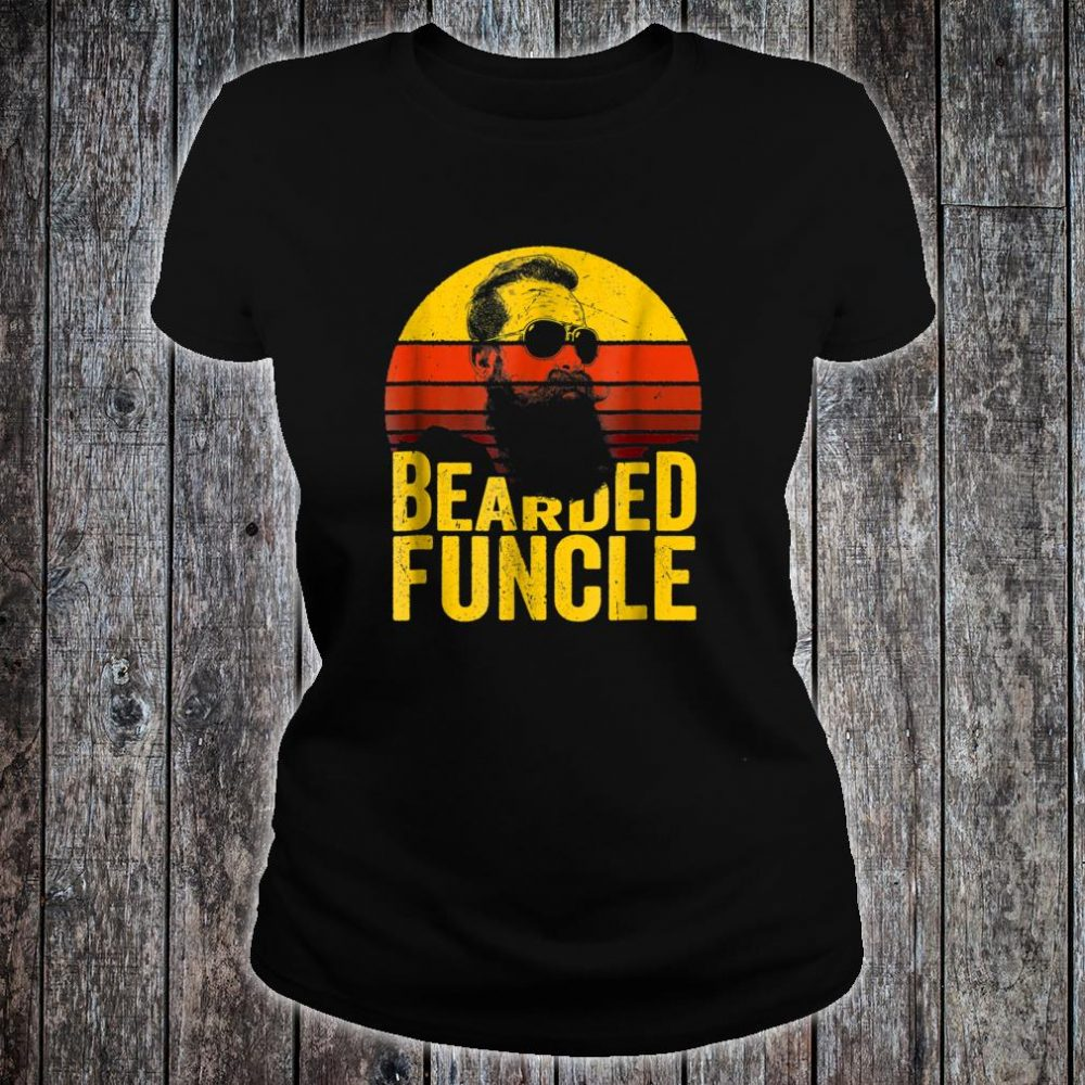 Bearded Funcle Shirt Uncle Sunset Shirt ladies tee