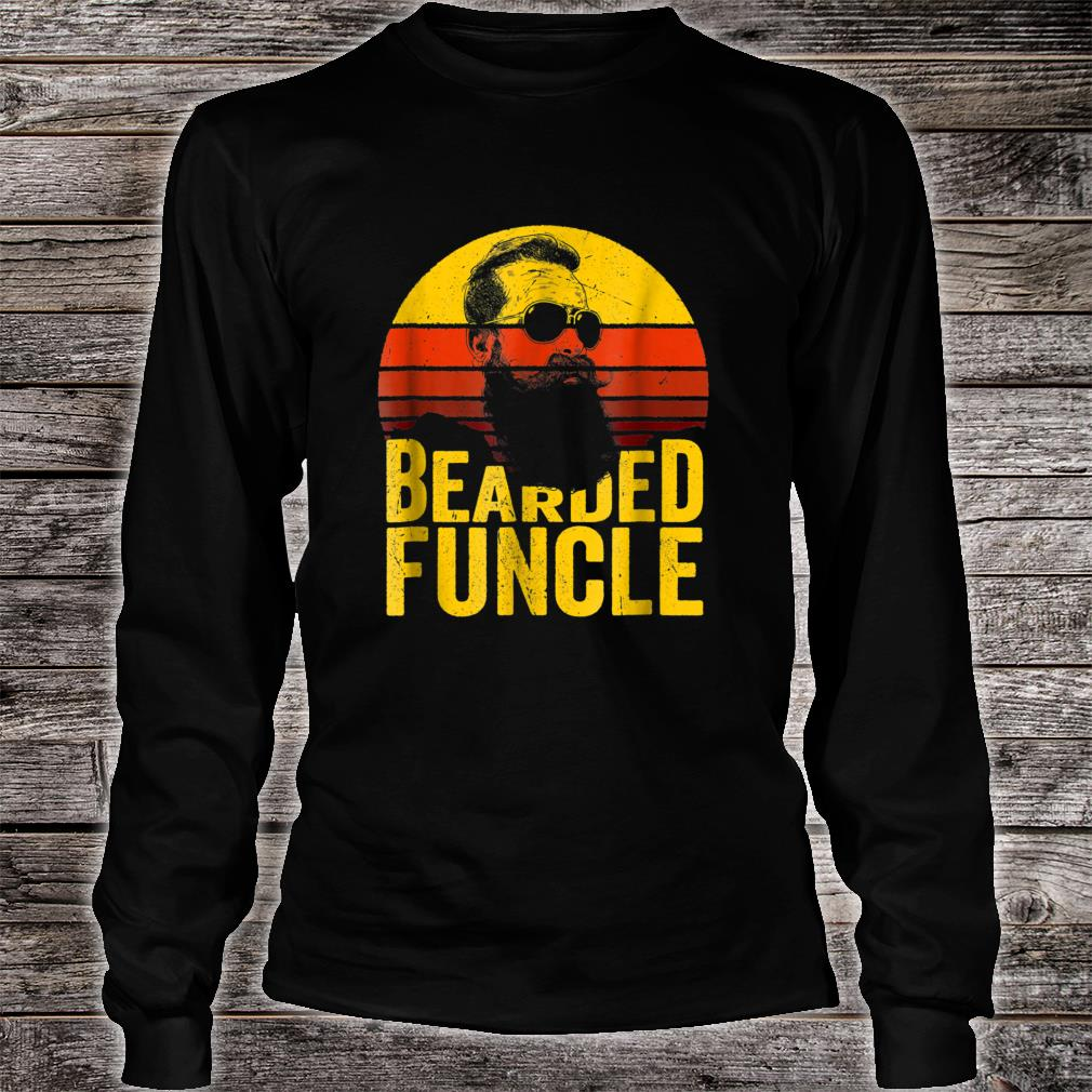 Bearded Funcle Shirt Uncle Sunset Shirt Long sleeved